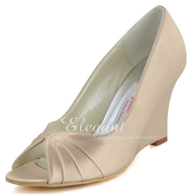 Champagne Wedge Dress Shoes