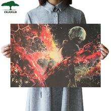DLKKLB классический винтажный Токийский вурдалак Анимация Ретро-постер к фильму крафт-бумага 51,5x36 см украшение комнаты общежития картина стикер стены
