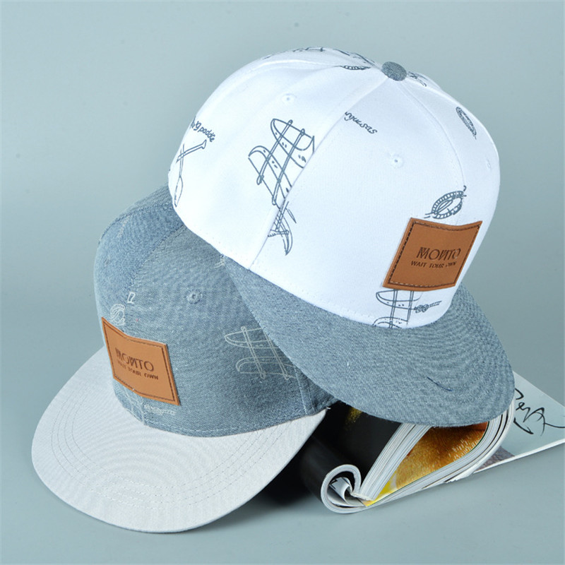 2018 New Hot Cotton Cowboy Hat Letter Stickers Graffiti Casual Fresh Hip-hop   Baseball     Cap   Casquette Snapback Hats for men