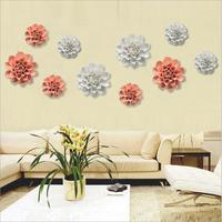 Diy 2017 seramik çiçek duvar asılı ev dekorasyon süsleme ev arka plan duvar sanatlar el sanatları otel/restoran