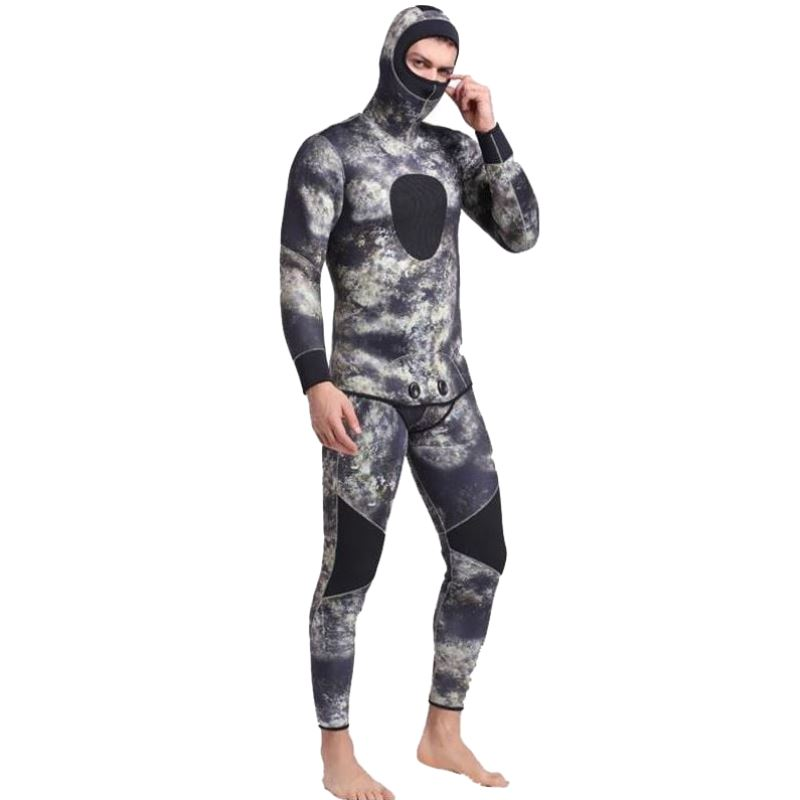Men Plus Size Diving Wetsuit Keep Warm 3mm Neoprene Two Pieces Full Suit Blind Stitching Jumpsuit Surfing Suit Print Camouflage 3mm unisex s 2xl wetsuit sbr cr watersport keep warm sunscreen diving wetsuit suit anti slip lightweight comfortable