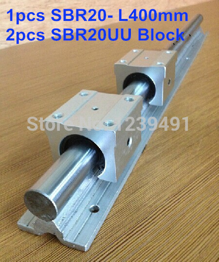 1pcs SBR20 L400mm linear guide + 2pcs SBR20UU block cnc router1pcs SBR20 L400mm linear guide + 2pcs SBR20UU block cnc router