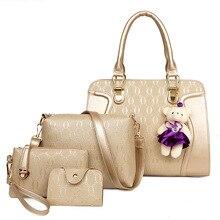 Luxury Women Leather Handbags Designer Bags Ladies Women's Composite Bags Set Totes Messenger Bag Sac a Main Femme De Marque