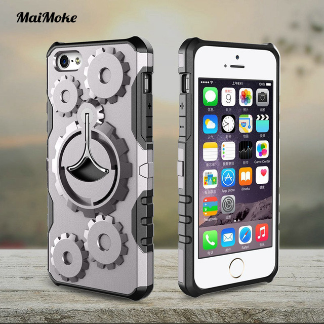New For Iphone 5S Case Mechanical Gears Armor Cover 5 SE Luxury Sports