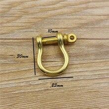 D anneau en laiton massif en cuir artisanat portefeuille sac haut niveau vachette fermoir boucle pour option 10 pièces/lot