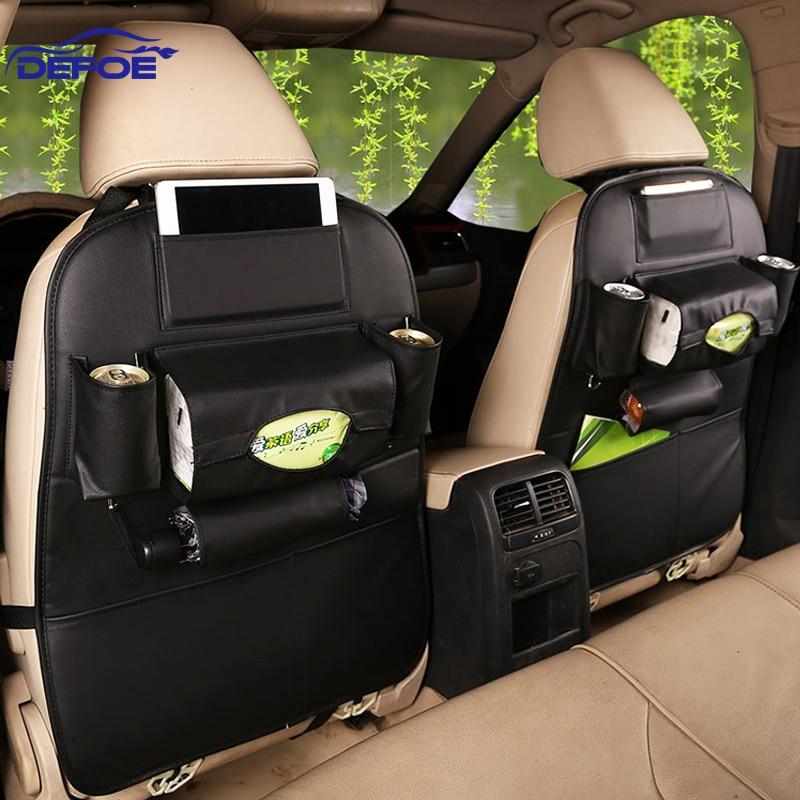 2017 New Car seat storage bag Hanging bags car seat back bag Car product Multifunction vehicle