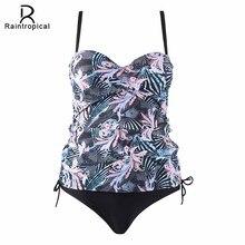 Raintropical Пуш Ап женский сексуальный женский купальник с принтом плюс размер купальник Танкини с ремешками купальники купальные костюмы в мозаичном стиле