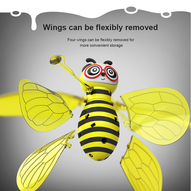 Image 4 - Hot sale mini aircraft small bee induction flight gesture induction drone helicopter infrared induction aircraft new strange toy-in RC Helicopters from Toys & Hobbies