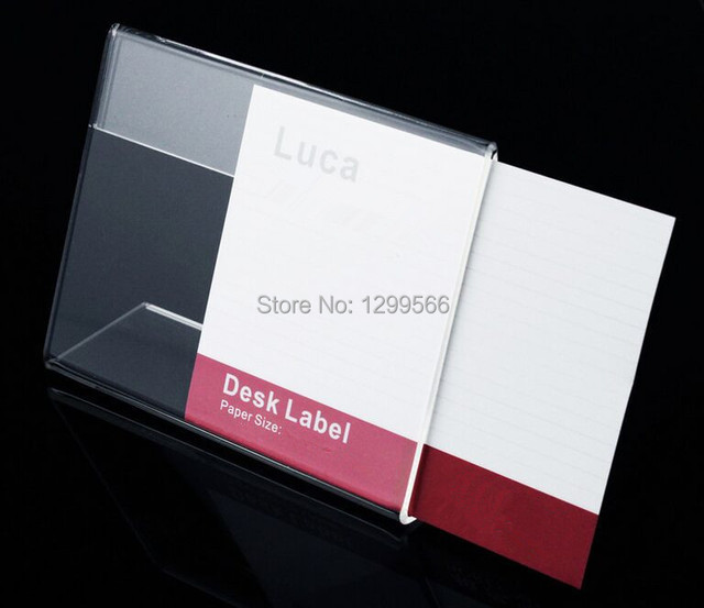6x4cm L  Shape Clear Acrylic Table Sign Price Tag Desk Label Frame Display  Paper Promotion Part 63