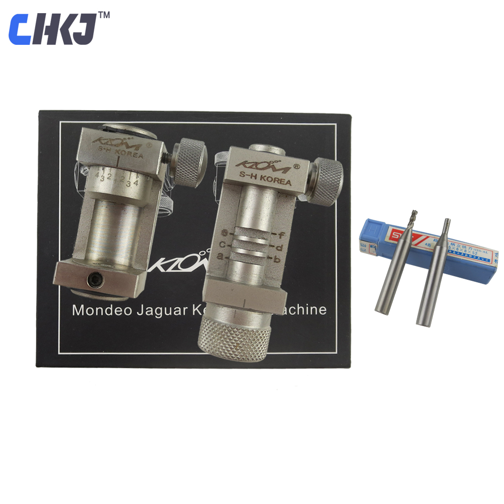 CHKJ Ford Mondeo Jaguar Key Code Machine Clamp Mondeo Car Key Duplicating Fixture Car Key Blank