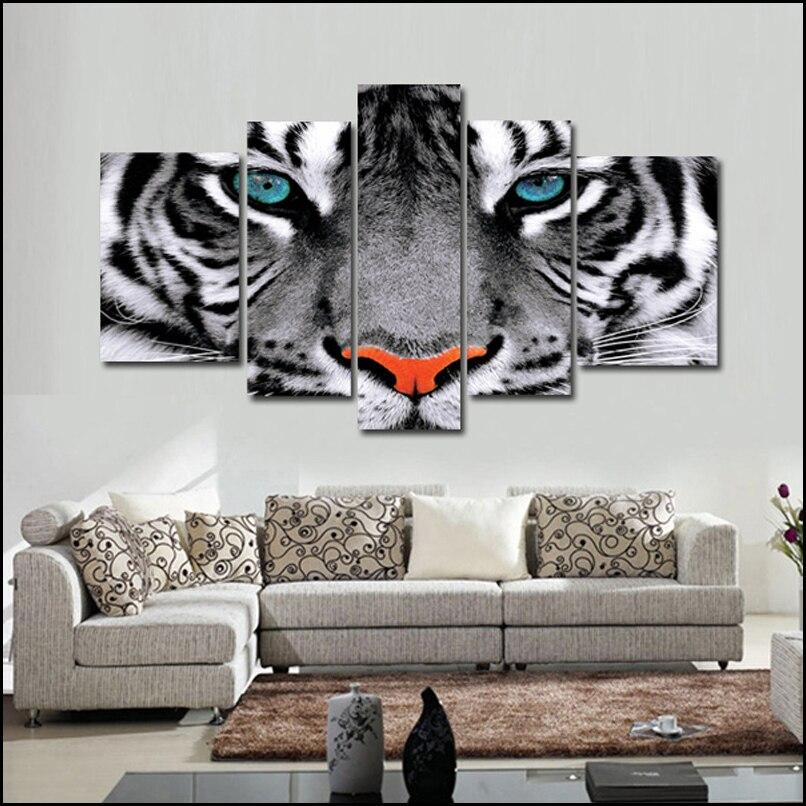 5 unidades de pared cuadros para sala de estar del tigre - Cuadros originales para cocina ...