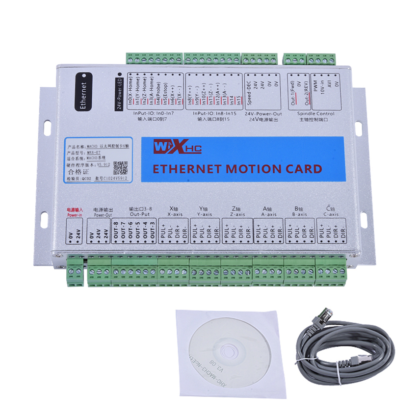New Arrival MACH3 Ethernet Six-axis Controller Ethernet Breakout Board XHC Ethernet Motion Control Card Mach3 controller 2000KHZ цена