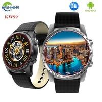 KINGWEAR KW99 Smart Watch 1.39 Inch MTK6580 Quad Core 1.3GHZ Android 5.1 3G Smart Watch 400mAh 2.0 Mega Pixel Heart Rate Monitor