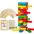 Free Shipping!Wooden Toys Colorful Large 51pcs Stacked Blocks Building Blocks Educational Toys gift