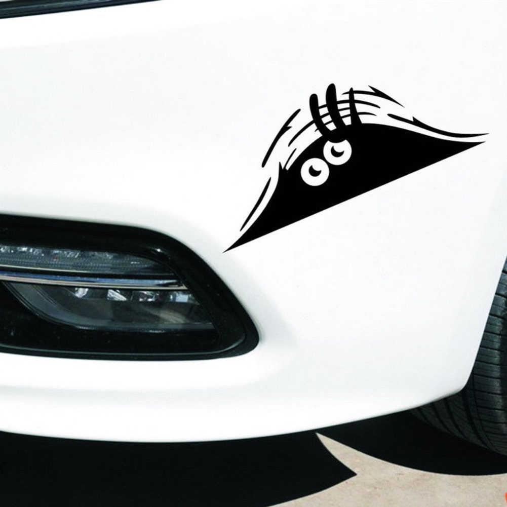กันน้ำ Self - adhesive Removable รถสติกเกอร์รูปลอก Auto ตกแต่งตลก Peeking Monster 3D Big Eyes ภายใน