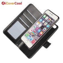 For iPhone 6 Plus iPhone Case Coque Detachable Magnetic Wallet Photo Cover for iPhone 6s Plus Capa Fundas Movil Carcasas Hoesjes