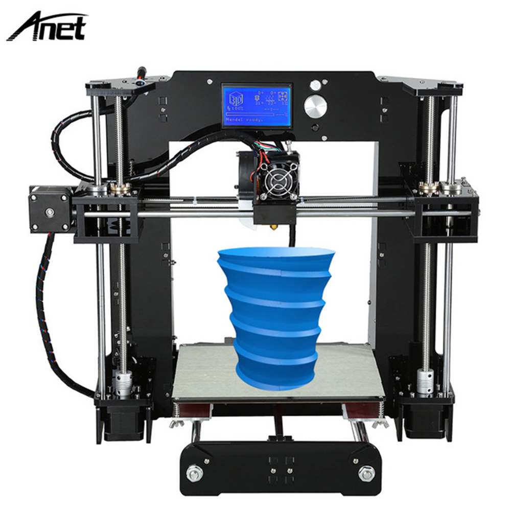 Best selling Anet A6 3d printer with large printing size 220*220*250mm reprap prusa i3 desktop DIY 3d printer kit 12864LCD anet a2 metal lcd2004 220 220 220 220 270 220mm option 3d printer diy prusa i3 3d printer kit with free 10m filaments