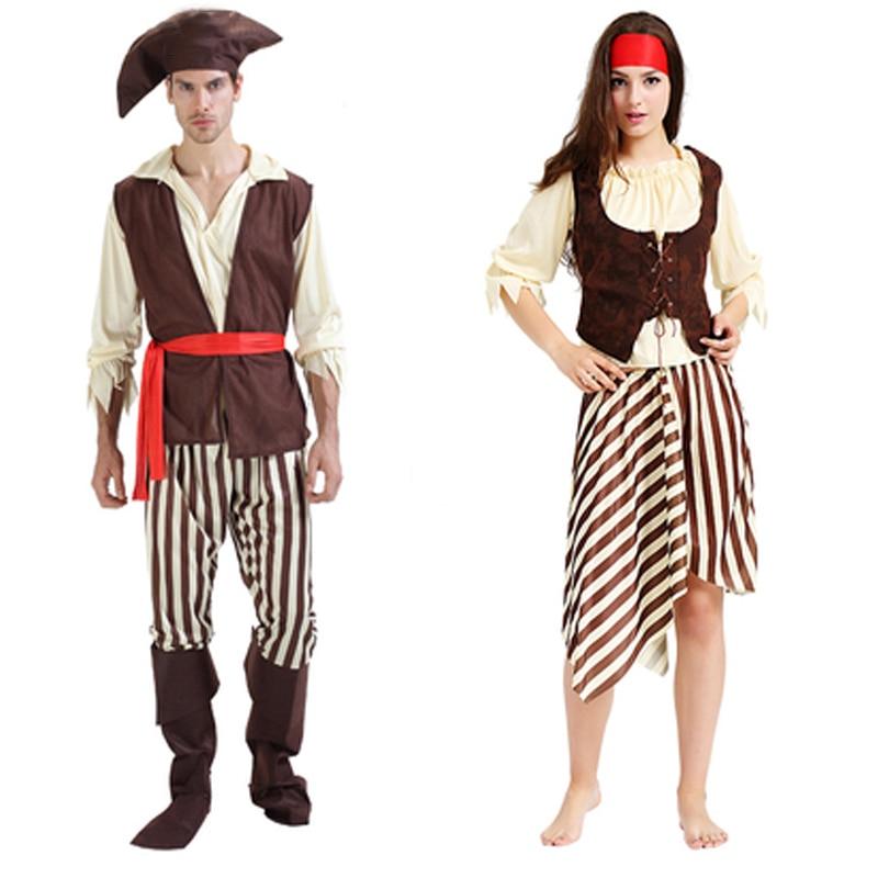 Bărbați Femei Pirați Cosplay Costume Adulți Bărbați Femei - Costume carnaval