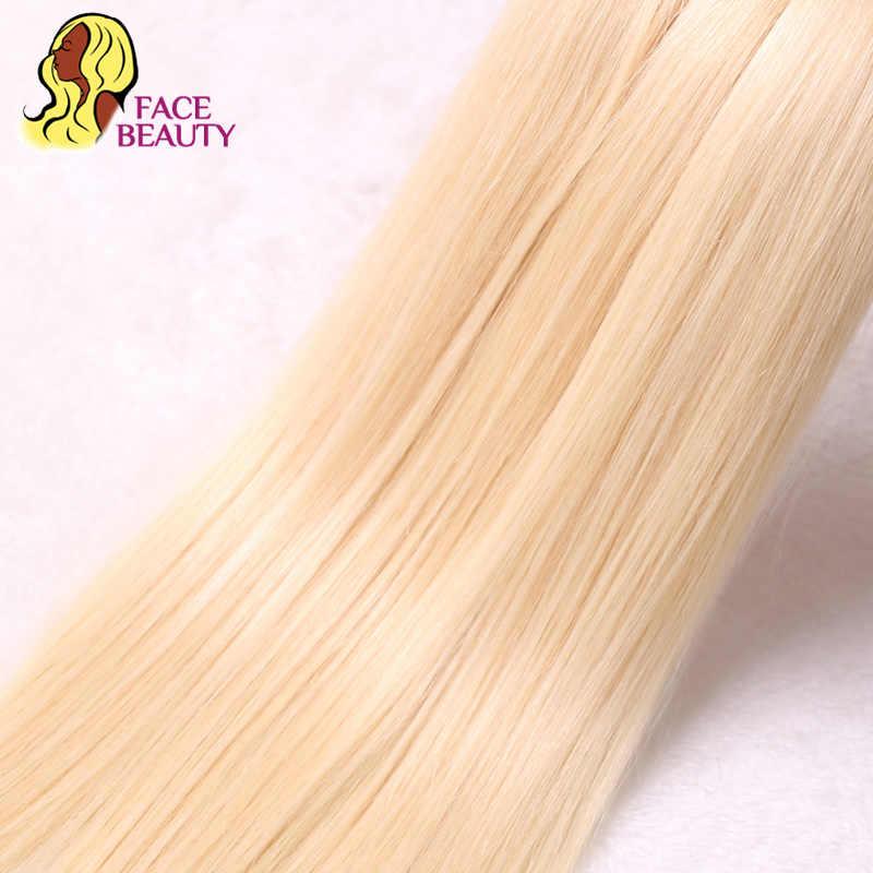 Facebeauty 613 Блондин 1/3/4 бразильские волосы Комплект прямые волосы переплетения Реми парики из натуральных волос 26 28 30 32 34 36 38 40 дюймов Бесплатная доставка