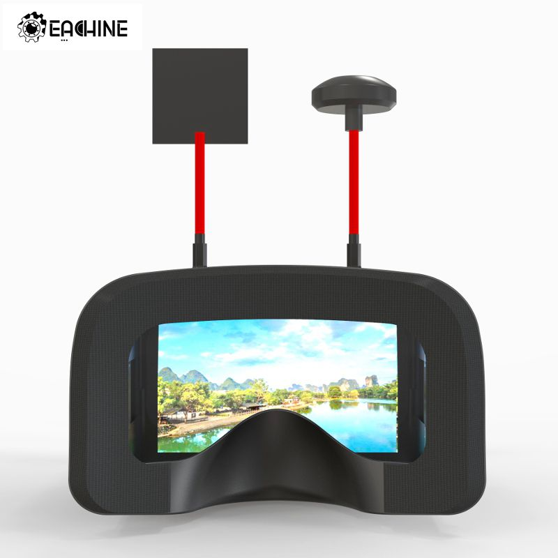 Eachine VR D2 Pro 5 Inches 800*480 40CH 5.8G Diversity FPV Goggles w/ DVR Lens Adjustable Video Glasses for FPV Quadcopter Drone eachine ts5840 upgraded 40ch 5 8g 200mw wireless av transmitter tx for fpv multicopter