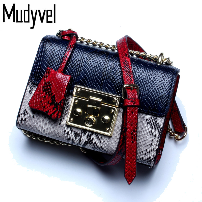 2017 new serpentine Cowhide women shoulder bag high quality chain women messenger bags 100% genuine leather cross body bags 2017 new simple mini women shoulder bag fashion chain messenger bags high quality pu leather cross body for lady small bag