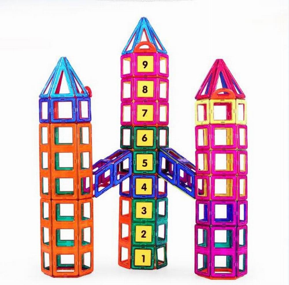 109pcs/Set 3D DIY Toys Early Education Magnetic Building Blocks Kit Plastic Assemble Enlighten Stacking Blocks Sets