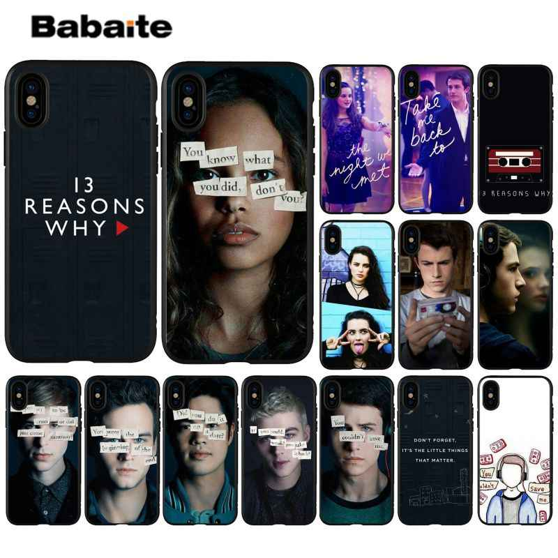 Babaite 13 Reasons Why Top Detailed Popular Cell Phone Case Cover for iPhone 5 5S SE 6 6S Plus 7 8 XR X XS MAX Coque Shell case