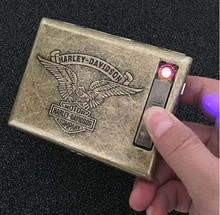 Зажигалка портсигар для 20 сигарет упаковке