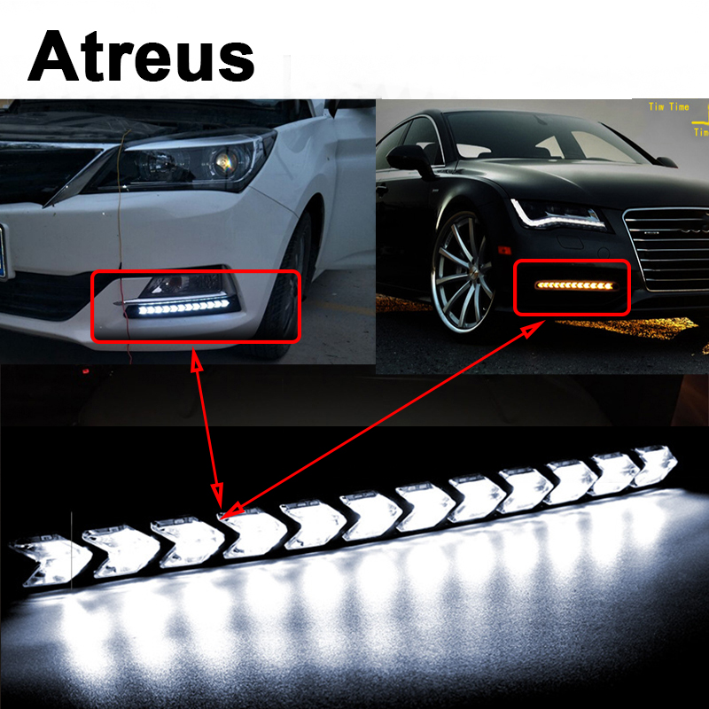 Atreus 2X Car with Yellow Steering Day Lights Turn Signals LED For Mercedes benz W204 W203 W211 AMG Mini cooper Skoda octavia a5 atreus 1pair car led fender side turn signals