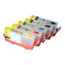 5 шт. Для hp 178 пустые Многоразового картриджи для HP Photosmart AIO/7510 электронной aio-c311a/Plus AIO/Pro B8550 с ARC чипов