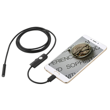 1M 2M 5M 3.5M  7mm Lens Inspection Pipe Endoscope Mini USB Camera Snake Tube with 6 LEDs Borescope for Android Phone PC