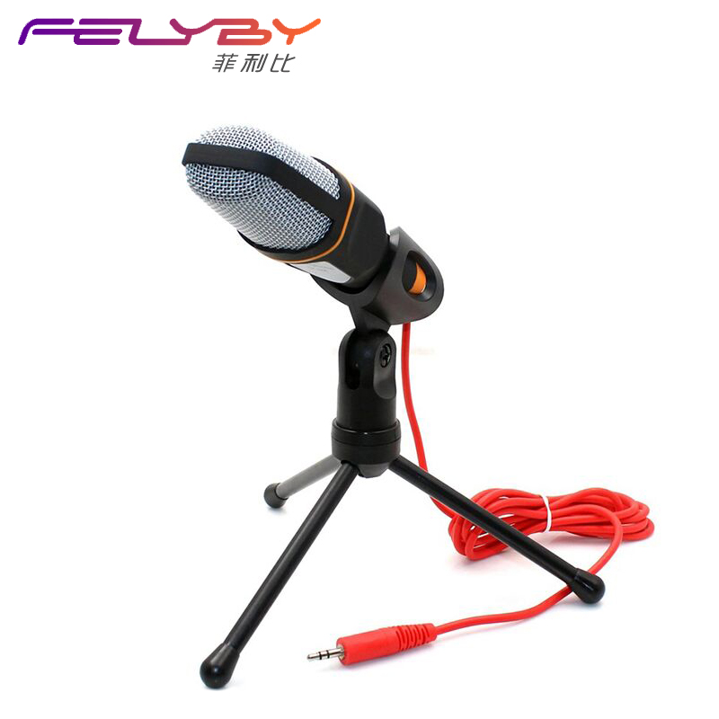 Hot High Quality Professional Condenser Microphone Mic with Stand for PC Laptop Skype Recording with Windscreen