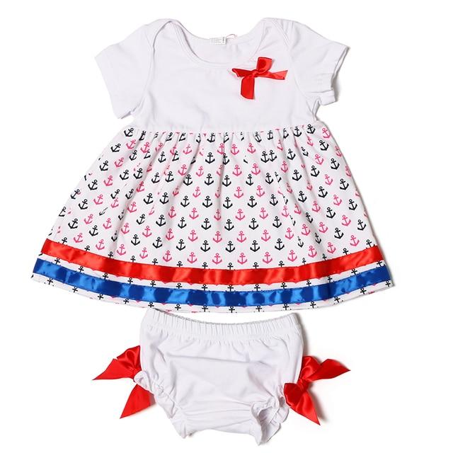 5dd737a3cec81 Nouveau-né Bébé Fille Vêtements Coton Robe Bloomer Costume Nouveau-Né  Diaper Cover Ancrage