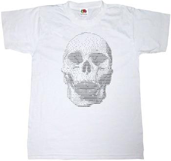 2019 moda lato gorąca sprzedaż czaszka tekst ART T-SHIRT 100% bawełna ludzki szkielet przerażający HORROR TEE SHIRT Tee shirt