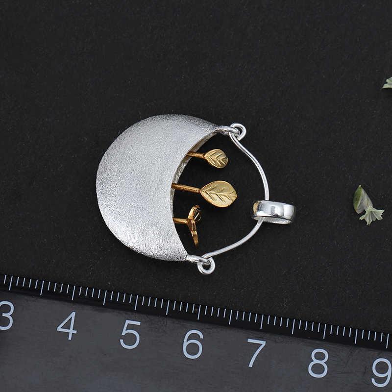 Loto Divertimento Reale 925 Gioielli In Argento Fatti A Mano Gioielleria Raffinata My Little Giardino Pendente di Disegno Senza collana Per le donne Acessorios
