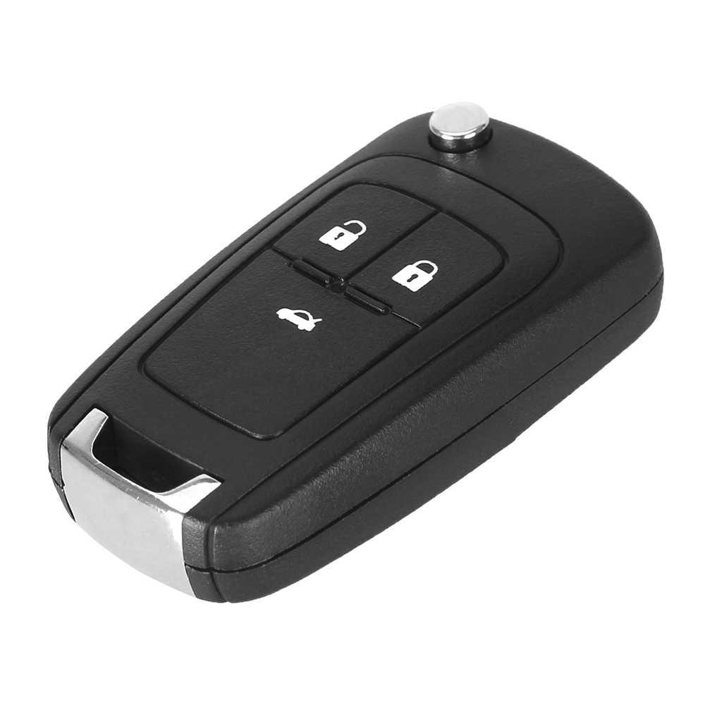 KEYYOU Флип складной пульт дистанционного ключа автомобиля оболочки для Шевроле-это эпос Lova Camaro Impala 2 3 4 5 Кнопка HU100 лезвие