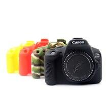 Caso da câmera de silicone saco para canon eos 1500d 1300d 2000d rebel t6 t7 beijo x80 x90 capa de câmera de borracha pele dslr escudo