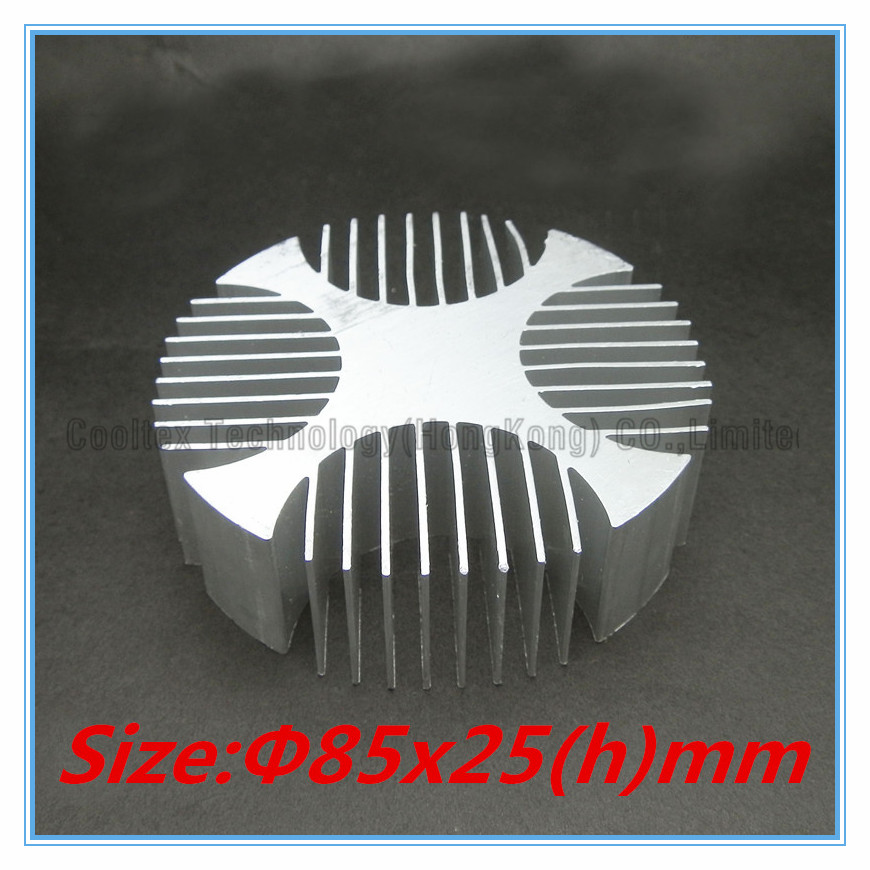 High quality 82x25mm Aluminum heatsink radiator heat sink for LED cooling cooler 200pcs lot 0 36kg heatsink 14 14 6 mm fin silver quality radiator