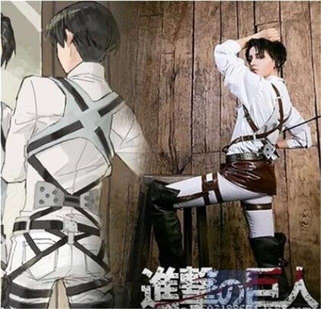 Ataque em titan shingeki nenhum kyojin recon corps cinto arnês hookshot traje cintos ajustáveis cosplay a447