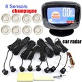 best  8 Sensors for Rear and Front with LCD Monitor Display car Parking Reverse Backup Radar parking sensor 9 colorsto choose