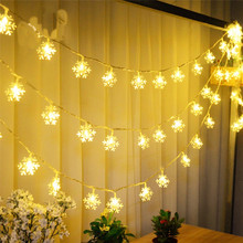 10M 100LED Snowflake Fairy String Light Birthday Lighting  Room Decor Romantic Wedding Decoration Event Happy New Year Gift