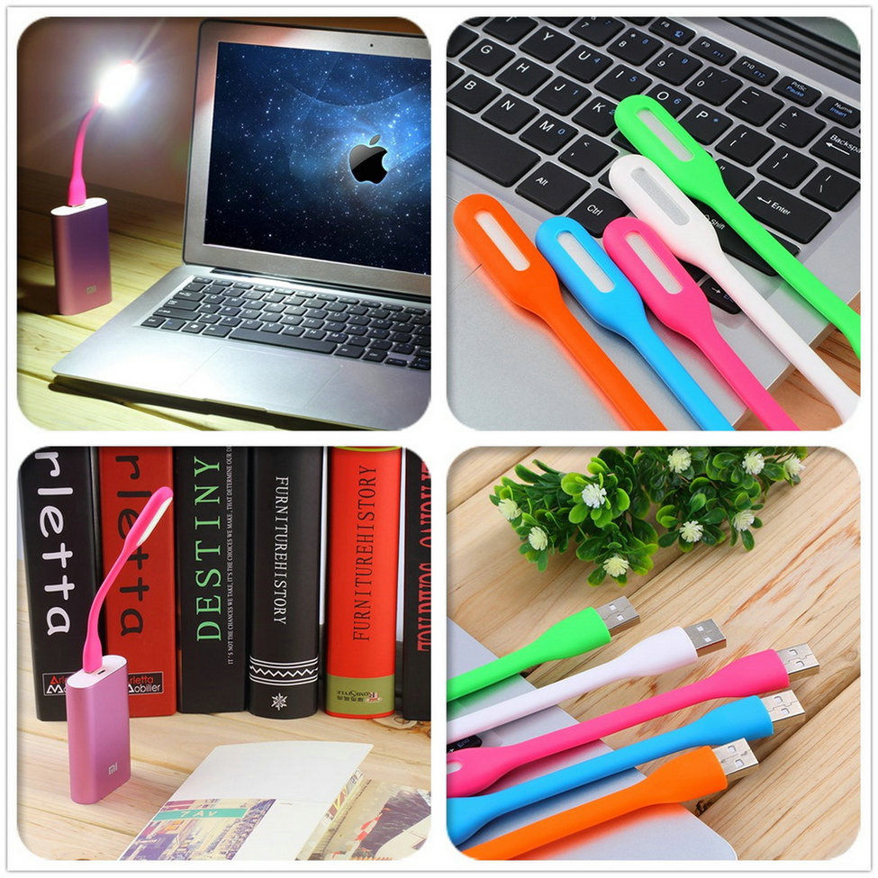 White Lamp for Laptop Flexible USB for Xiaomi Notebook Computer PC Warm Mini LED Lamp USB Gadgets Party Gifts