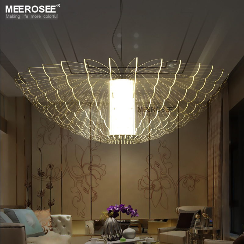 Art Deco Outdoor Hanging Lights: LED New Lighting Butterfly Acrylic Pendant Light Fixture