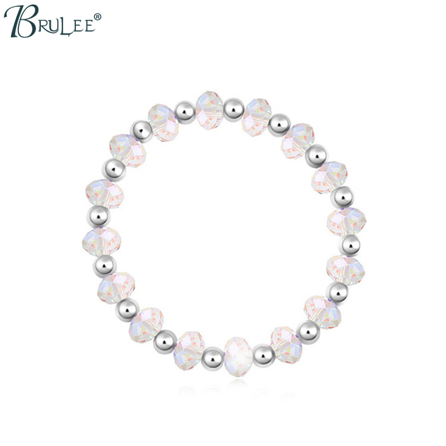 2017 New Fashion Crystal from Swarovski Bracelet Water Drop Elastic Luxury Bangles Women Jewelry Wholesal