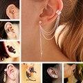 ES10009 Stud Earrings For Women Feather Tassel Cat Star Spider Brincos Ear Cuff Fashion Jewelry 2018