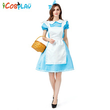 2019 new Renaissance costume Halloween cosplay parent-child European colonial pastoral suit Adult maid party