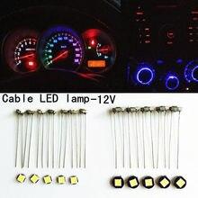Luz para painel de led para carro t3 t4 t4.7 t5, luzes para painel de carro, instrumento de porta automóvel, lâmpada de leitura de cunha de 12v, com 10 peças led smd estilo do carro