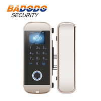 Smart 3 in 1 Fingerprint /Card/Passcode Sliding Glass Door Lock with touch keypad 3000 users