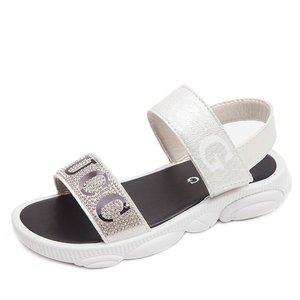 2019 summer new girls sandals children soft bottom little princess shoes girls fashion cute rhinestones Korean sandals