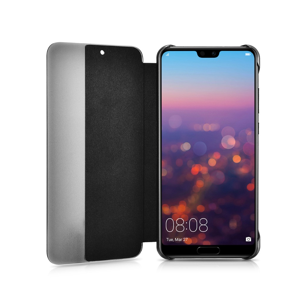 2018 Original Xoomz High Quality Genuine Leather Flip Case For huawei P20 Pro Side window Design Cover For P20 Pro Leather Case